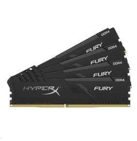DIMM DDR4 128GB 3200MHz CL16 (Kit of 4) KINGSTON HyperX FURY Black