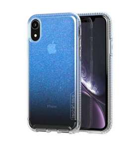 Tech21 kryt Pure Shimmer pre iPhone XR - Blue