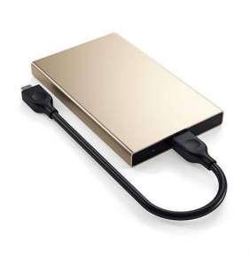 Satechi USB-C HDD/SSD Enclosure - Gold Aluminium