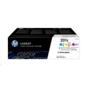 HP 201X 3-pack High Yield Cyan/Magenta/Yellow Original LaserJet Toner Cartridges (CF253XM)