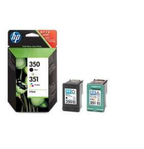HP 350 Černá/351 Tříbarevná originální inkoustová kazeta – dvojbalení