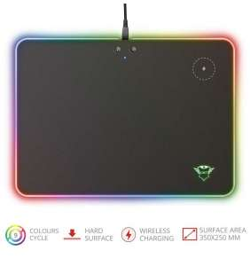 TRUST GXT 750 Qlide RGB Mousepad with wireless charging