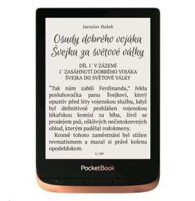 PocketBook 632 Touch HD 3, Spicy Copper, 16GB, šedý ebook reader, 6´´ E-ink1488 x 1072 LCD, Wifi, 16GB+SD
