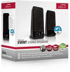 SPEED LINK reproduktory SL-8004-BK EVENT Stereo Speakers, black