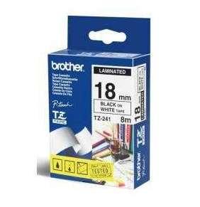 BROTHER TZES241 - kazeta TZ šířky 18mm, extrémně adhesivní lamino TZE-S241, bílá/černé písmo