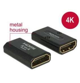 Delock Adaptér High Speed HDMI s Ethernetem – HDMI-A samice   HDMI-A samice 4K černý