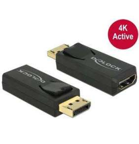 Delock adaptér Displayport 1.2 samec   HDMI samice 4K aktivní černý