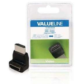 Valueline VLVB34902B - adaptérem High Speed HDMI s Ethernetem Úhlový 270° HDMI Konektor - HDMI zásuvka, černá