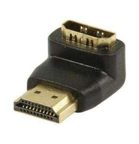 Valueline VGVP34901B - adaptérem High Speed HDMI s Ethernetem Úhlový 90° HDMI Konektor - HDMI Vstup, černá