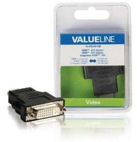 Valueline VLVB34910B - adaptérem High Speed HDMI s Ethernetem HDMI Konektor - DVI-D 24+1p zásuvka, černá