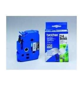 BROTHER HGE-M951V5 Labelling Supplies, 24mm Black/Matt Silver (5 pcs Pack)  High Grade Tape