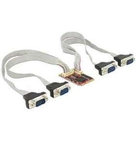 Delock Modul MiniPCIe I/O PCIe full size 4 x Serial RS-232 -40 °C ~ 85 °C