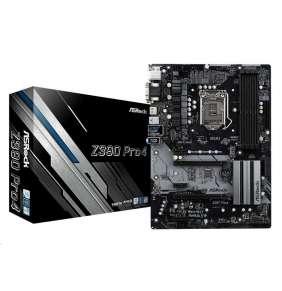 ASRock Z390 PRO4, 4x DDR4 4300+, 1xHDMI/DVI-D/D-Sub, USB-C