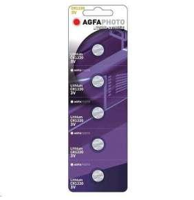 AgfaPhoto gombíková lithiová batéria 3V, CR1220, blister 5ks