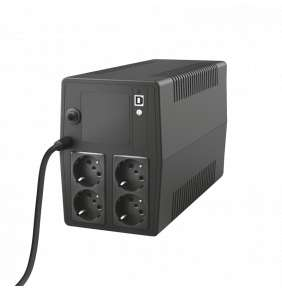 TRUST UPS Paxxon 1000VA UPS with 4 standard wall power outlets