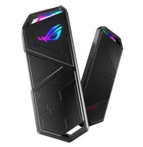 ASUS ROG STRIX ARION ESD-S1C SSD NVME AURA case, USB-C 3.2 Gen 2 - M.2 NVMe SSD kovový box, délka 30 až 80 mm, AURA RGB