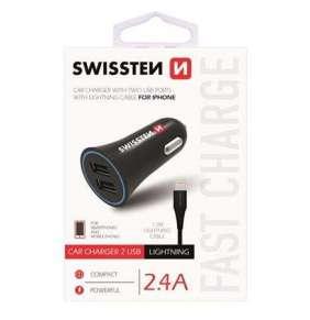 SWISSTEN CL ADAPTÉR 2,4A POWER 2x USB + KABEL LIGHTNING