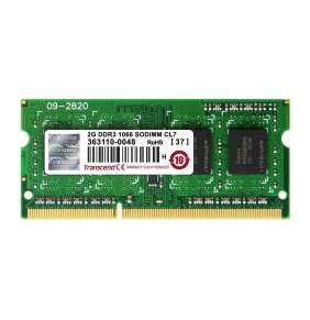 SODIMM DDR3 2GB 1066MHz TRANSCEND 1Rx8 CL7