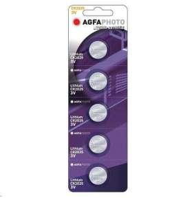 AgfaPhoto gombíková lithiová batéria 3V, CR2025, blister 5ks