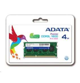 ADATA 4GB 1600MHz DDR3L CL11 SODIMM, 1.35V Single Tray