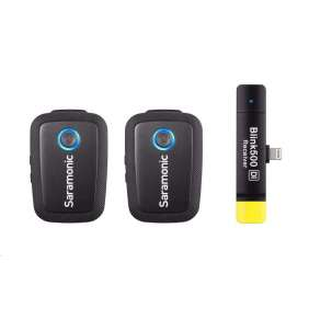 Saramonic Blink 500 B4 (TX+TX+RX Di) - klopový mikrofon, lightning