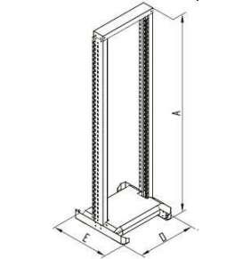 "TRITON 19"" jednodielny otvorený stojan RSX, 42U"