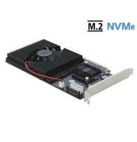 Delock Karta PCI Express x8 / x16 na 4 x interní NVMe M.2 Key M