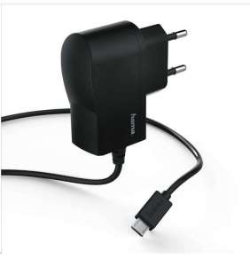 Hama síťová nabíječka s kabelem, micro USB, 1 A