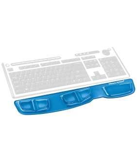 Opěrka zápěstí ke klávesnici Fellowes Health-V CRYSTAL gelová modrá