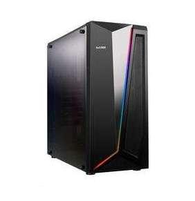 1stCOOL skříň RAINBOW 2, Midi Tower, AU, USB 3.0, bez zdroje, Black, RGB LED strip