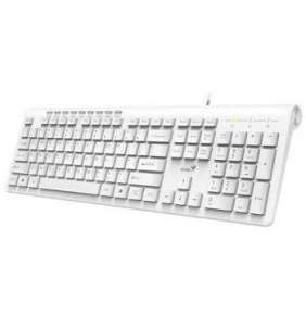 Genius klávesnice Slimstar 230/ drátová, USB, CZ+SK layout, bílá