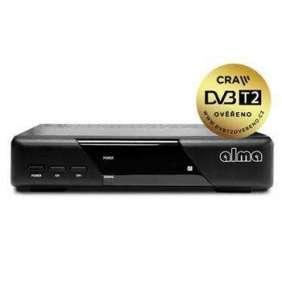 ALMA DVB-T/T2 set-top-box 2820/ Full HD/ H.265/HEVC/ CRA ověřeno/ PVR/ EPG/ HDMI/ USB/ SCART/ černý