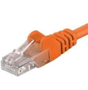 Patch kabel UTP RJ45-RJ45 level 5e 5m oranžová