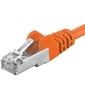 PREMIUMCORD Patch kabel CAT6a S-FTP, RJ45-RJ45, AWG 26/7 0,25m oranžová