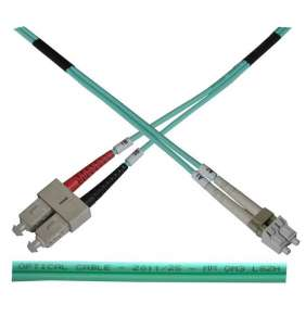 Optický patch kabel duplex LC-SC 50/125 MM 3m OM3