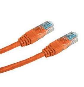 DATACOM Patch kabel UTP CAT5E 0,5m oranžový