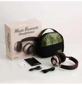 Remax RB-500HB - Headset-bluetooth sluchátka,hnědé