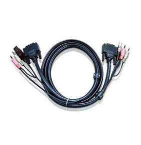 ATEN int.kabel pro KVM USB, DVI, audio,  1,8m pro CS1768, Dual Link