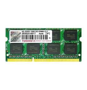 SODIMM DDR3 4GB 1066MHz TRANSCEND 2Rx8 CL7, retail