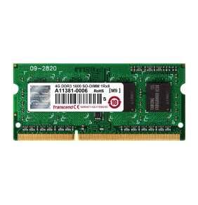 Transcend paměť SODIMM DDR3 4GB 1600MHz 1Rx8 CL11