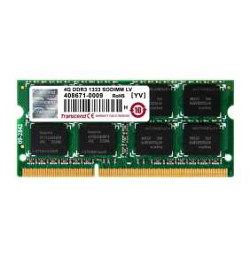 SODIMM DDR3L 4GB 1333MHz TRANSCEND 2Rx8 CL9, bulk