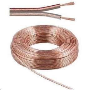 PremiumCord kabel 1m (jenom po 100m cela civka) na propojení reprosoustav 100% CU měď 2x 1,5mm2