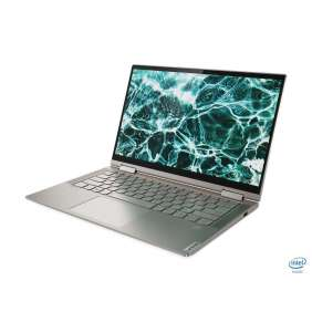 "Lenovo IP YOGA C740-14 i7-10510U 4.8GHz 14.0"" FHD IPS TOUCH matny UMA 16GB 512GB SSD kb-light FPR W10 Strieborny 2y MI"