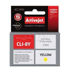 Atrament ActiveJet pre Canon CLI-8 Yellow WITH CHIP ACC-8Y