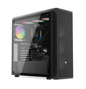 SilentiumPC skříň MidT Signum SG7V EVO TG ARGB  / 2x USB 3.0 / 4x 120mm ARGB fan / tvrzené sklo / černá
