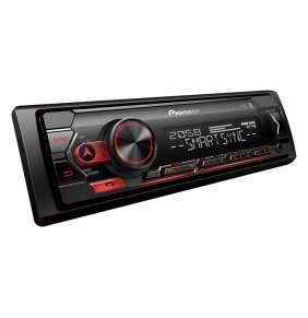 Pioneer autorádio s USB a Bluetooth červené