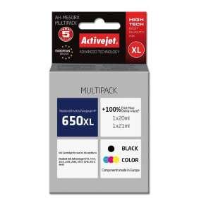 Atrament ActiveJet pre HP 650 CZ101/CZ102 AH-M650RX Black/Tricolor 20 ml/ 21 ml