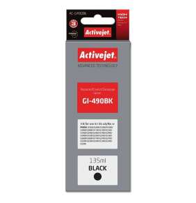 ActiveJet ink for Canon GI-490Bk new AC-G490Bk Black 135 ml Compatible