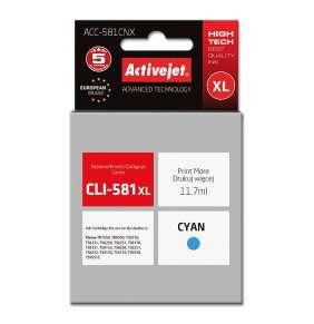 Atrament ActiveJet pre Canon CLI-581C XL ACC-581CNX Cyan 11,7 ml