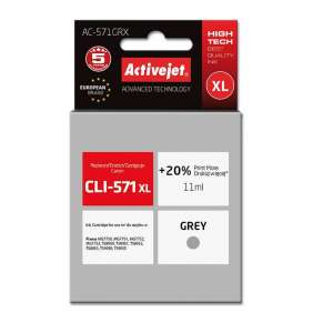 ActiveJet ink for Canon CLI-571GR XL rem AC-571GRX Gray 11 ml Remanufactured